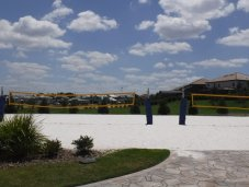 Oasis volleyball court